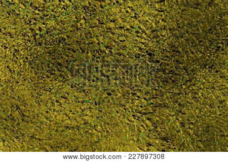 Green-gold Foil Effect Tightly Textured, Predominately Brown And Green-gold Tones With Tiny Flecks O