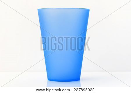 Plastic Glass. Plastic Cup On White Background.