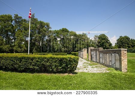 The Historic Cemetery On The Fort York Historic Site In Toronto Canada