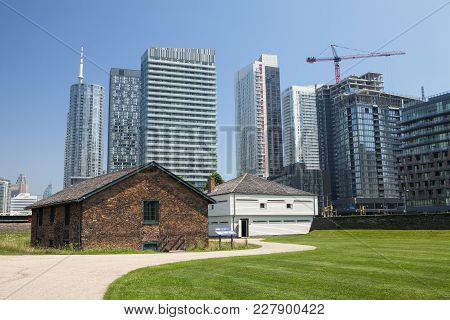 The Historic Brick Magazine And East Blockhouse At Fort York In Toronto Canada
