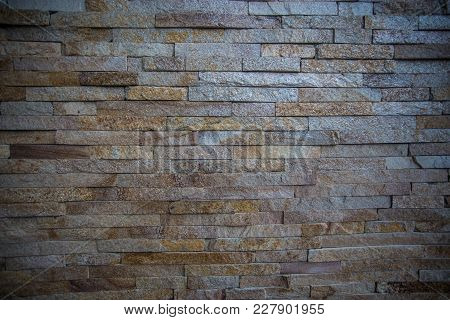 Brick Texture Colorful Wall Or Floor. Pattern, Template, Background Concept