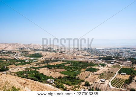 Horizontal Picture Of The Desert And Local Located In The City Of Jericho, Israel