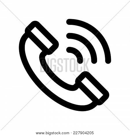 Call Icon Isolated On White Background. Call Icon Modern Symbol For Graphic And Web Design. Call Ico