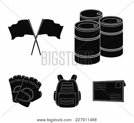Protective Vest, Gloves And Other Equipment. Paintball Single Icon In Black Style Vector Symbol Stoc