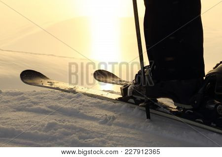 Skier On Ski Slope