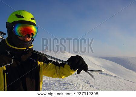 Skier On A Peak