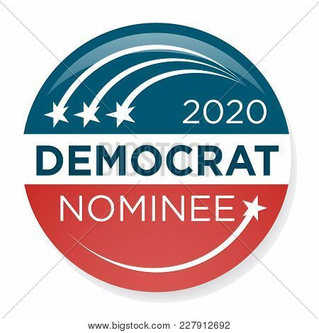 2020 Campaign Election Pin Button Or Badge With Patriotic Stars & Stripes Theme