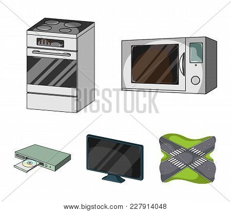 Home Appliances And Equipment Cartoon Icons In Set Collection For Design.modern Household Appliances
