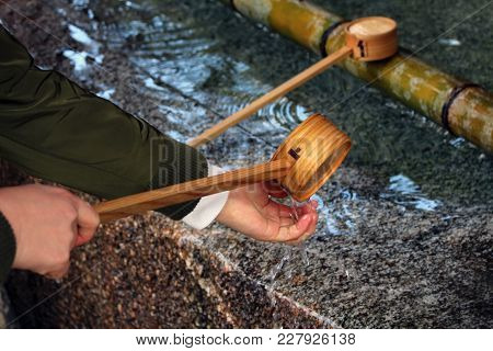 A Ritual To Purify The Pilgrim. In Japanese, It's Called