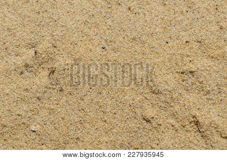 Texture Of The Yellow Sand For Background