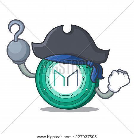 Pirate Maker Coin Character Cartoon Vector Illustration