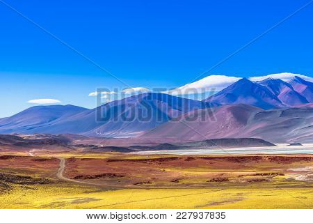 View On Lagoon Piedra Rojas In The Desert Of Atacama In Chile