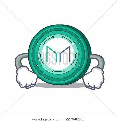 Angry Maker Coin Mascot Cartoon Vector Illustration