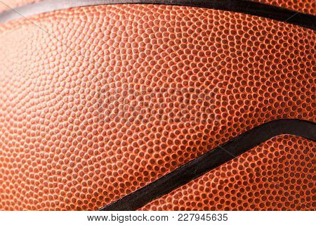 Basketball skin close up