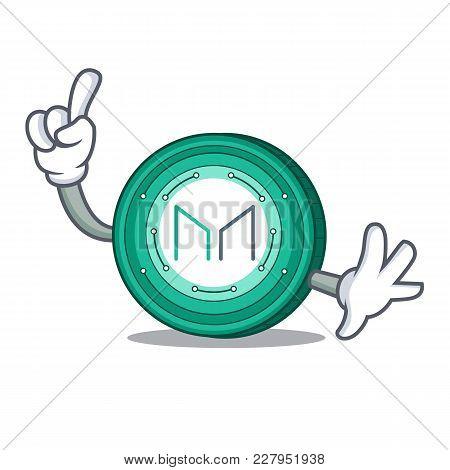 Finger Maker Coin Mascot Cartoon Vector Illustration