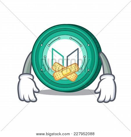 Silent Maker Coin Mascot Cartoon Vector Illustration