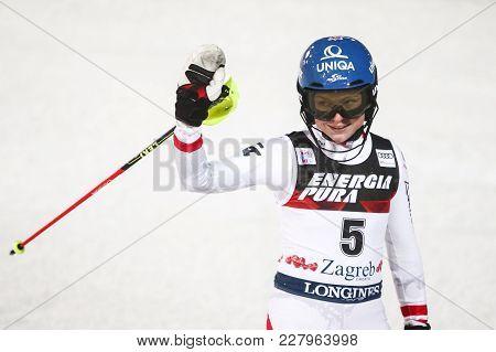 Audi Fis World Cup Ladies Slalom Finish Line