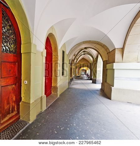 Loggia In The Swiss City Of Berne
