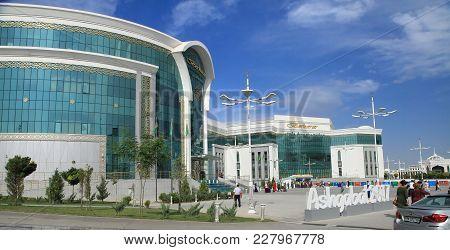 Ashgabat, Turkmenistan -  September 26, 2017 : Shopping Center