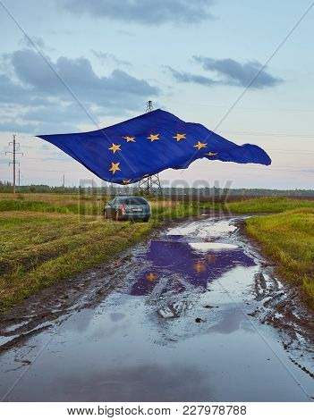 Pokrovsk, Ukraine - May 19, 2016: Celebrating The Day Of Europe In The Ukrainian City Of Pokrovsk, L