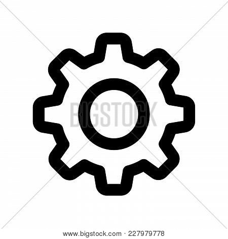 Settings Icon Isolated On White Background. Settings Icon Modern Symbol For Graphic And Web Design.