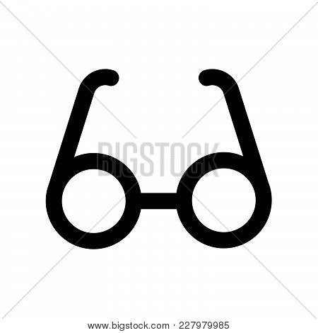 Glasses Icon Isolated On White Background. Glasses Icon Modern Symbol For Graphic And Web Design. Gl