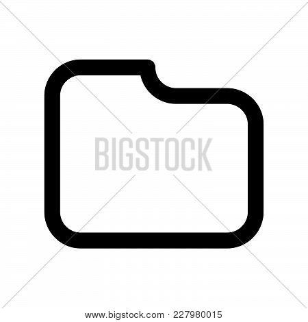Folder Icon Isolated On White Background. Folder Icon Modern Symbol For Graphic And Web Design. Fold