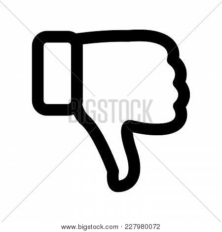 Thumb Down Icon Isolated On White Background. Thumb Down Icon Modern Symbol For Graphic And Web Desi