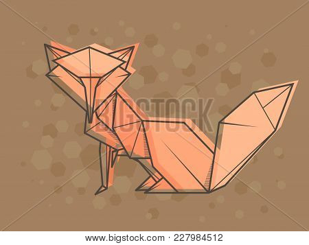 Vector Abstract Simple Illustration Drawing Outline Fox.