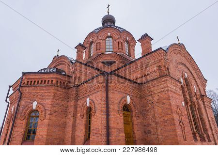 St Nicolas Orthodox Church In Bialowieza, Large Village In Bialowieza Forest In Poland
