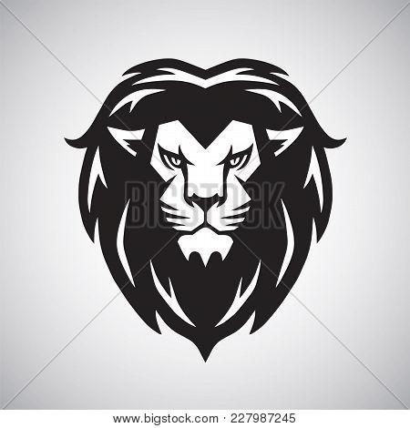 Lion Head Logo Vector Illustration Design Template Mascot