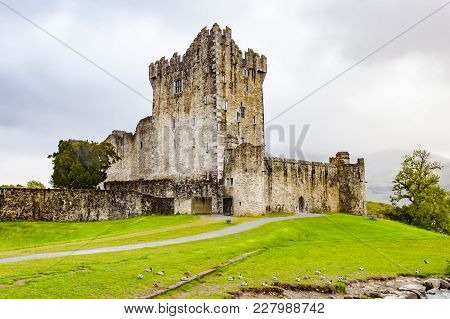Historic Ross Castle Located On The Edge Of Lough Leane, In Killarney National Park, County Kerry, I
