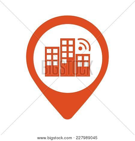 City Locator Design Vector Template. Pin Maps Symbol Vector . Gps Icon Design Vector. Simple Clean D