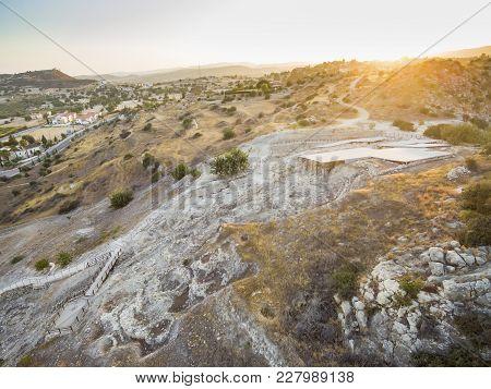 Aerial Choirokoitia, Larnaca, Cyprus