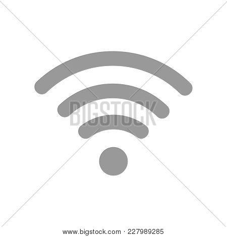 Wifi Gray Icon Flat Vector Illustration Eps10