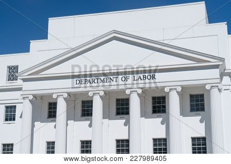 Montgomery, Al - October 30, 2017: Facade Of Department Of Labor Building In Montgomery, Alabama