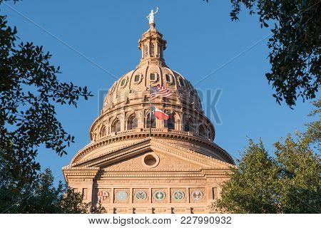 Dome Of The Texas Capitol Building In Austin, Texas
