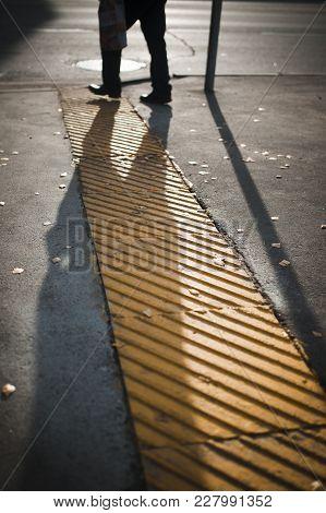 One Man's Legs Silhouette