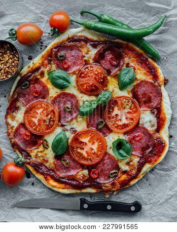 Rustic Salami Pizza