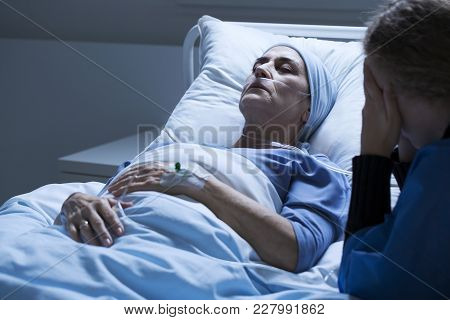 Dying Elderly Woman With Tumor