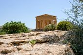 antique Temple of Concordia in Valley of the Temples Agrigento Sicily poster