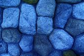 Blue Background from stones, simplicity texture for web site or mobile devices poster