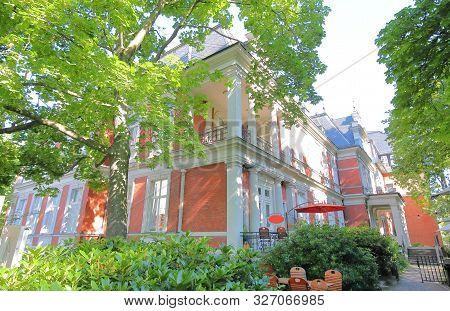 Berlin Germany - June 9, 2019: Charlottenburg Wilmersdorf Museum Old Building In Berlin Germany