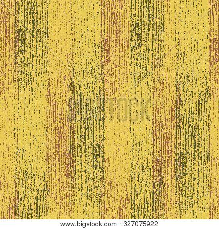 Retro Woodgrain Effect Vertical Stripes In Mustard, Burgundy And Yellow. Seamless Geometric Vector P
