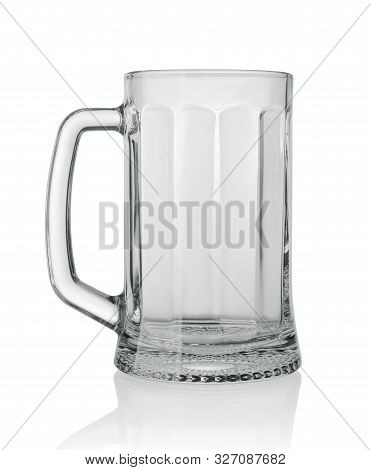 Beer Mug With Shadow Isolated On White Background