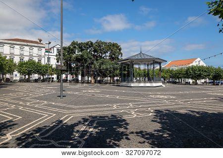 Ponta Delgada, Azores, Portugal - August 14, 2019: View Of Campo De Sao Francisco, One Of The Oldest