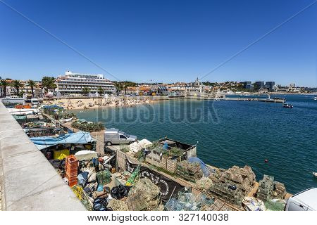 Cascais - August 14, 2019: Supporting The Local Fishing Industry In Cascais Bay, Portugal
