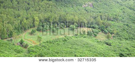 Panoramic nature mountain view