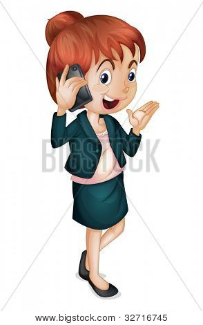 Illustration of a irl talking on phone - EPS VECTOR format also available in my portfolio.
