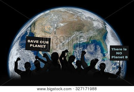 Political Relationships. Activist People Holding Letters With Words. 3d Illustration. Save Our Plane